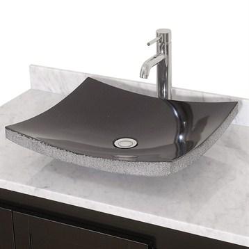 Altair Black Granite Vessel Sink by Wyndham Collection®