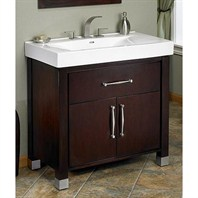 "Fairmont Designs Midtown 36"" Vanity and Sink Set - Espresso 145-V36"