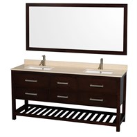 "Natalie 72"" Double Bathroom Vanity by Wyndham Collection - Espresso WC-2111-72-DBL-VAN-ESP"