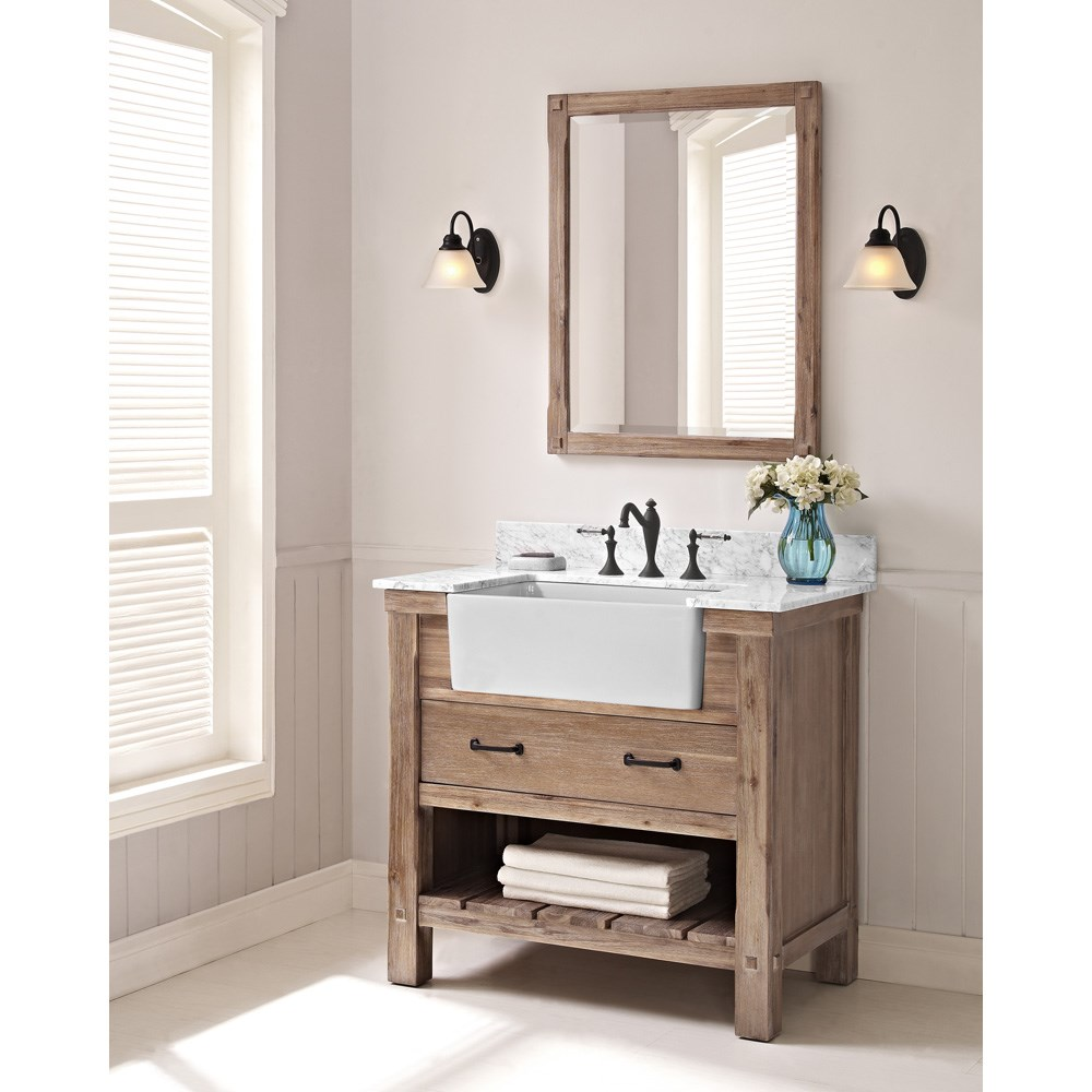 "Fairmont Designs Napa 36"" Farmhouse Vanity - Sonoma Sandnohtin Sale $1175.00 SKU: 1507-FV36 :"