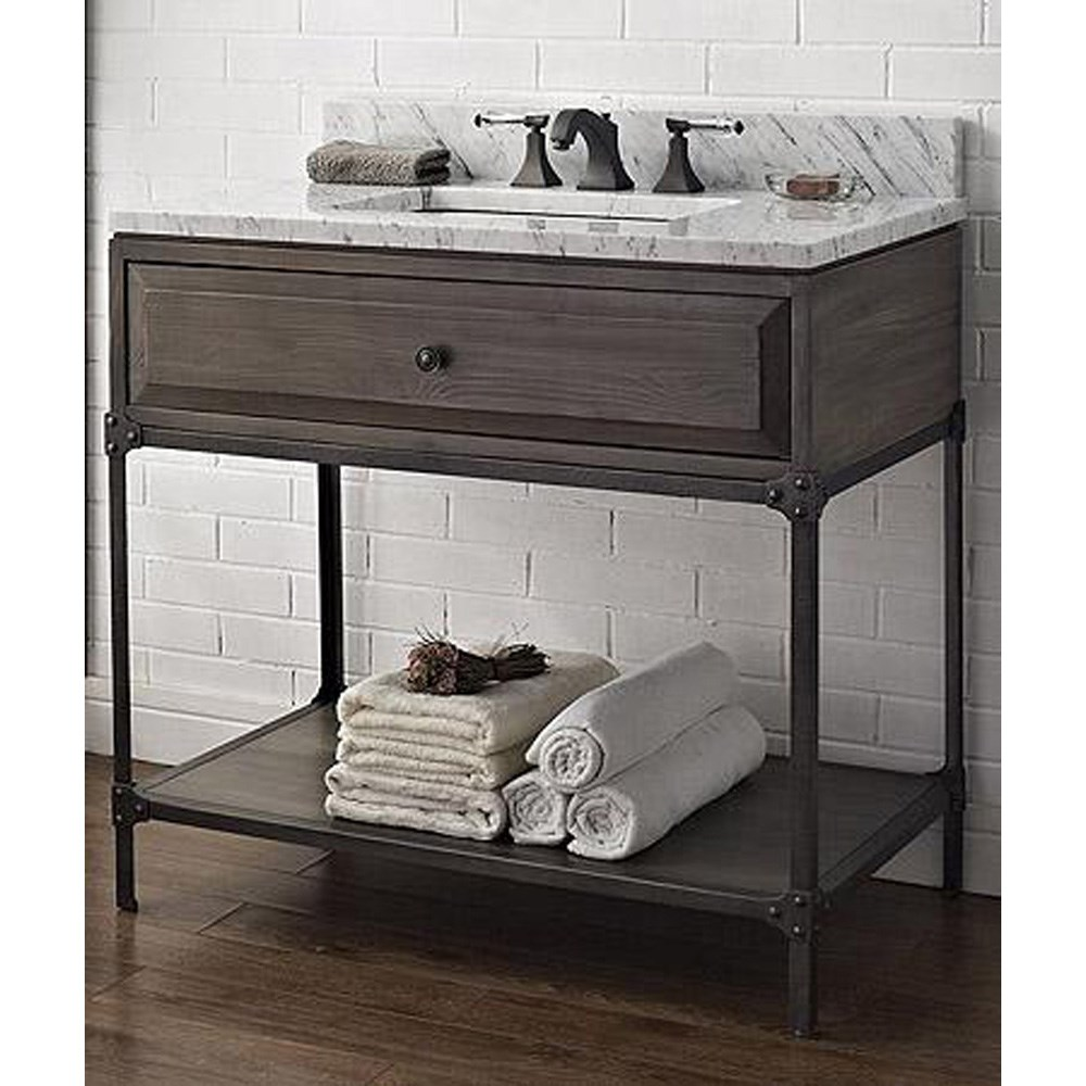 "Fairmont Designs 36"" Toledo Open Shelf Vanity - Driftwood Graynohtin Sale $1095.00 SKU: 1401-VH36 :"