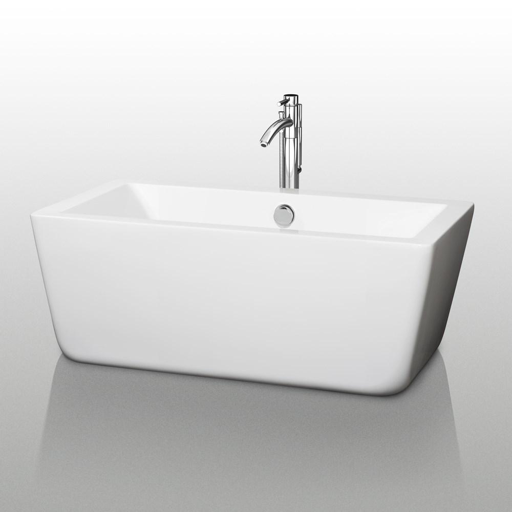 "Laura 59"" Small Soaking Bathtub by Wyndham Collectionnohtin Sale $1399.00 SKU: WC-BT1005-59 :"