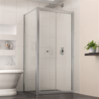 "Bath Authority DreamLine Butterfly Bi-Fold Shower Door (30-7/8"") with Return Panel, Chrome Finish Hardware SHDR-4530300-RT-01"