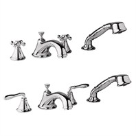Grohe Seabury 4-Hole Roman Tub Filler - Sterling Infinity Finish