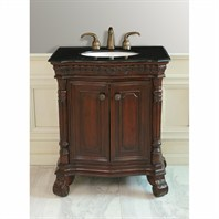 "Design Element Shakespeare 30"" Single Sink Vanity Set w/ Under Mount Sink DEC405A"