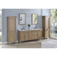 "Fairmont Designs Rustic Chic 72"" Vanity-Double Bowl - Weathered Oak 142-V7221D"