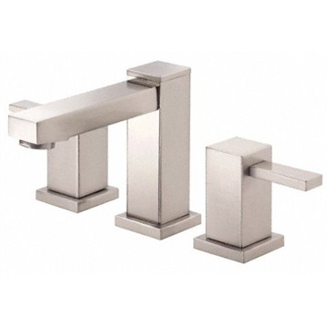 Danze Reef Two Handle Widespread Lavatory Faucet, Brushed Nickel D304533BN by Danze