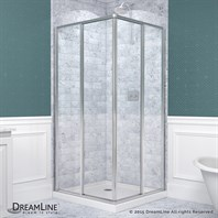 Bath Authority DreamLine Cornerview Framed Sliding Shower Enclosure (34-1/2 x 34-1/2) SHEN-8134340-01