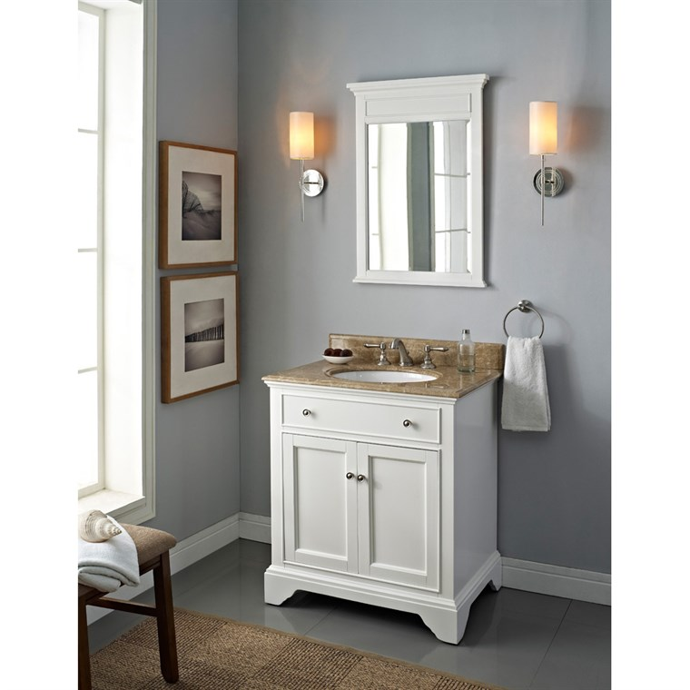"Fairmont Designs Framingham 30"" Vanity - Polar White 1502-V30"