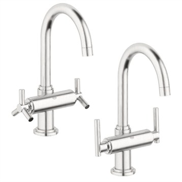 Grohe Atrio High Spout Lavatory Centerset, Infinity Brushed Nickel by GROHE