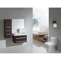 "Virtu USA Antonio 29"" Single Sink Bathroom Vanity - Espresso UM-3081-C-ES"