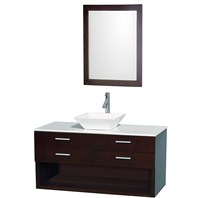 "Andrea 48"" Wall-Mounted Bathroom Vanity Set - Espresso WC-CG1001-48-ESP"