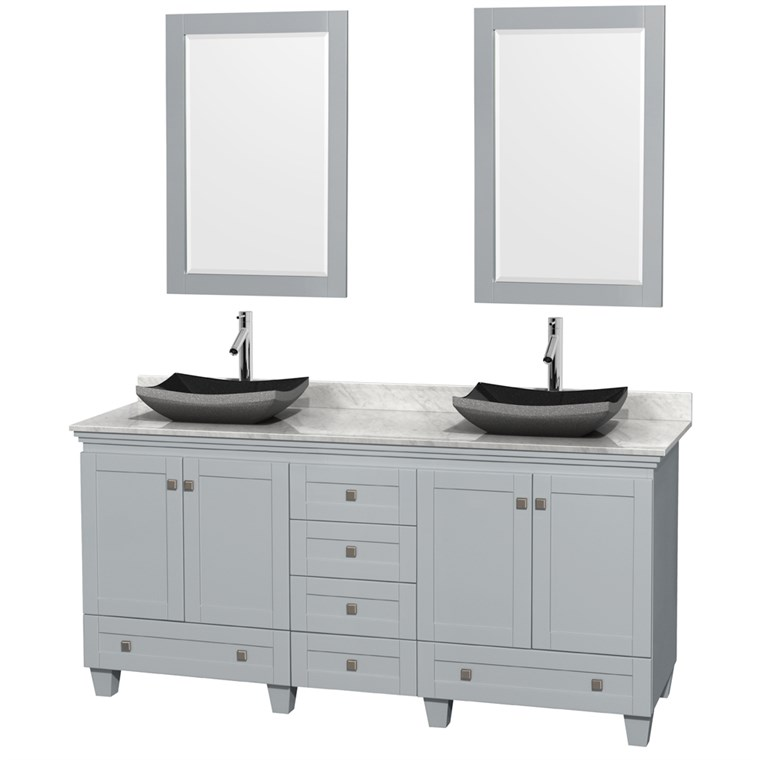 "Acclaim 72"" Double Bathroom Vanity for Vessel Sinks - Oyster Gray WC-CG8000-72-DBL-VAN-OYS"