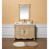 "James Martin 48"" Monte Carlo Single Vanity with Marble Top - Parchment 206-001-5126"