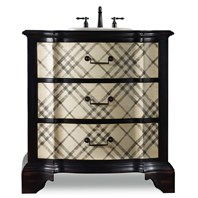 "Cole & Co. 32"" Designer Series Chadwick Chest - Handpainted Classic Plaid 11.22.275532.07"