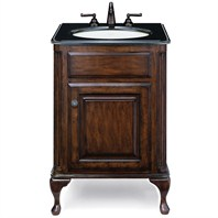 "Cole & Co. 25"" Custom Collection Petite Classic Vanity - Antique Brown"