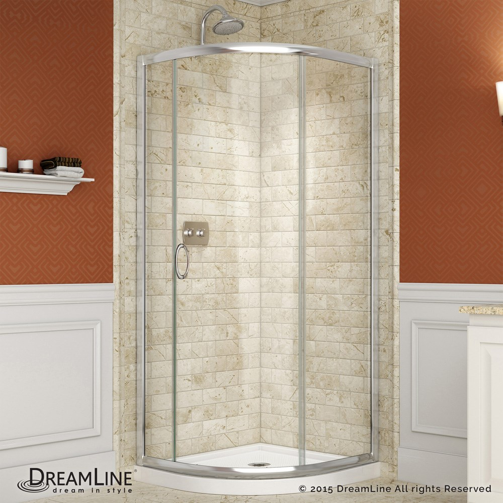 Bath Authority Dreamline Solo Frameless Sliding Shower Enclosure 36 3 8 By 36 3 8 Free Shipping Modern Bathroom