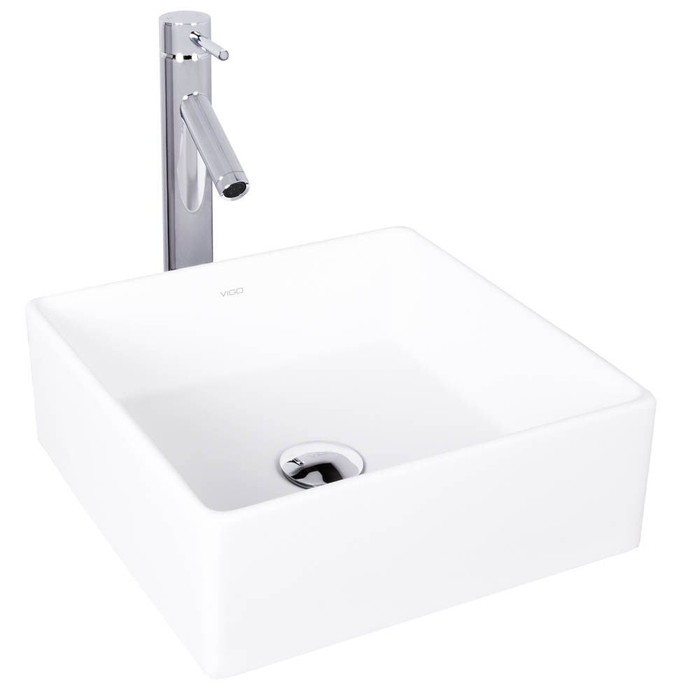 VIGO Bavaro Matte Stone Vessel Sink and Dior Bathroom Vessel Faucet in Chromenohtin Sale $249.90 SKU: VGT1000 :