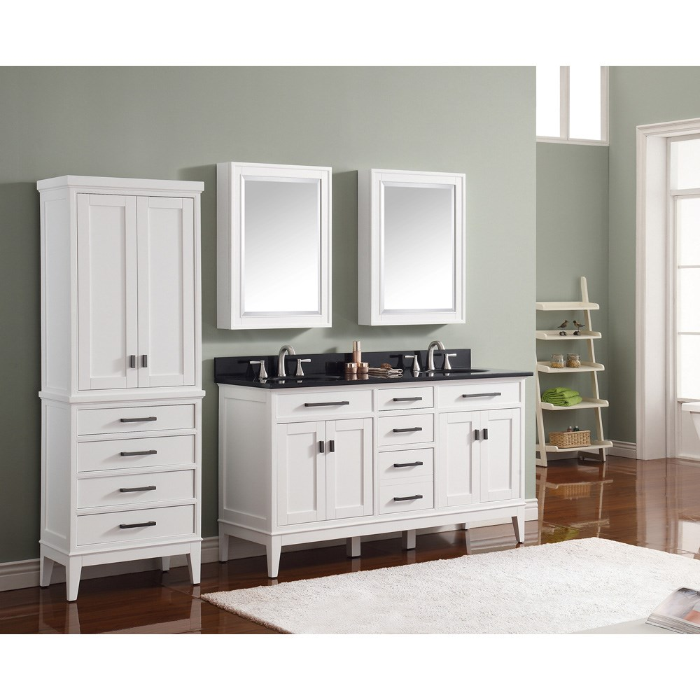 Avanity Madison 60 Double Bathroom Vanity White Free Shipping Modern