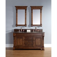 "James Martin 60"" Brookfield Double Vanity - Country Oak 147-114-5671"