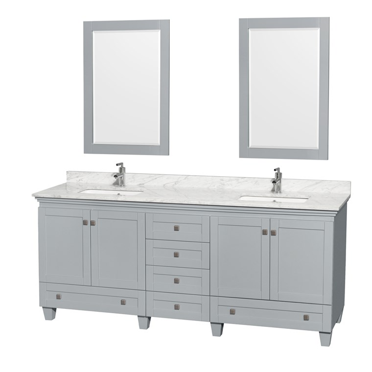 Acclaim 80 in. Double Bathroom Vanity by Wyndham Collection - Oyster Gray WC-CG8000-80-DBL-VAN-OYS-