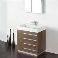 "Fresca Livello 30"" Gray Oak Modern Bathroom Vanity with Medicine Cabinet FVN8030GO"