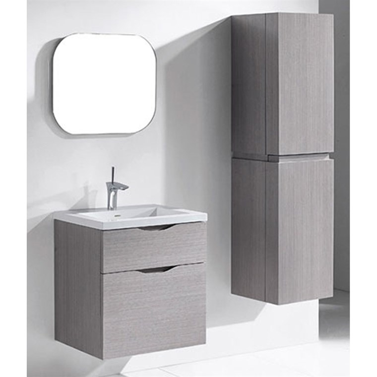 "Madeli Bolano 24"" Bathroom Vanity for Integrated Basin - Ash Grey B100-24-022-AG"