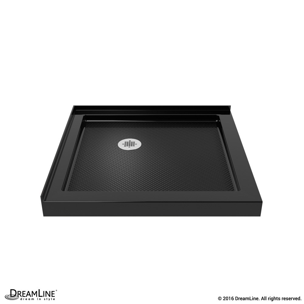 "Bath Authority DreamLine SlimLine Double Threshold Shower Base (32"" by 32"") - Black DLT-1032320-88"