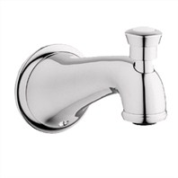 Grohe Seabury Wall Mounted Diverter Tub Spout - Sterling Infinity Finish