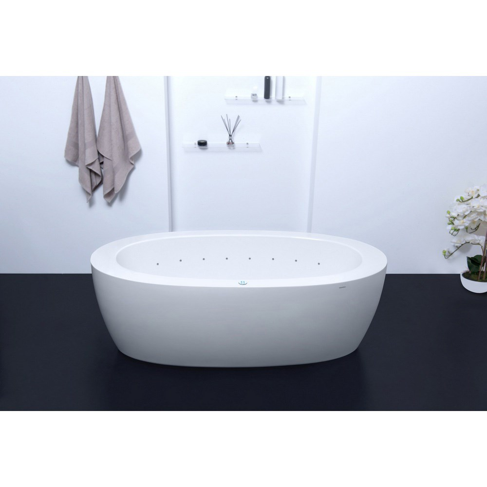 Bathtub Acrylic Freestanding White Oval