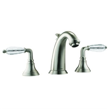 Jado Classic Widespread Lavatory Faucet Crystal Lever