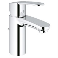 Grohe Eurostyle Cosmopolitan Lavatory Single-hole Centerset S-Size with Pop-up Waste - Starlight Chrome GRO 23036002