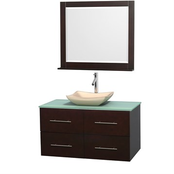 tile in bathrooms centra 42 quot single bathroom vanity for vessel sink by 14697