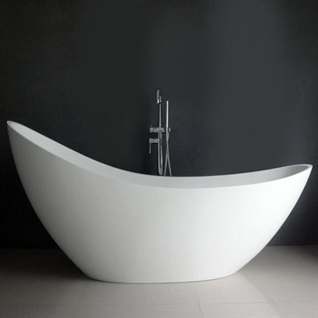 Debbi 74 Quot Soaking Bathtub Matte White Free Shipping