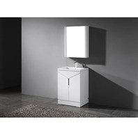 "Madeli Savona 24"" Bathroom Vanity for Integrated Basin - Glossy White B925-24-001-GW"