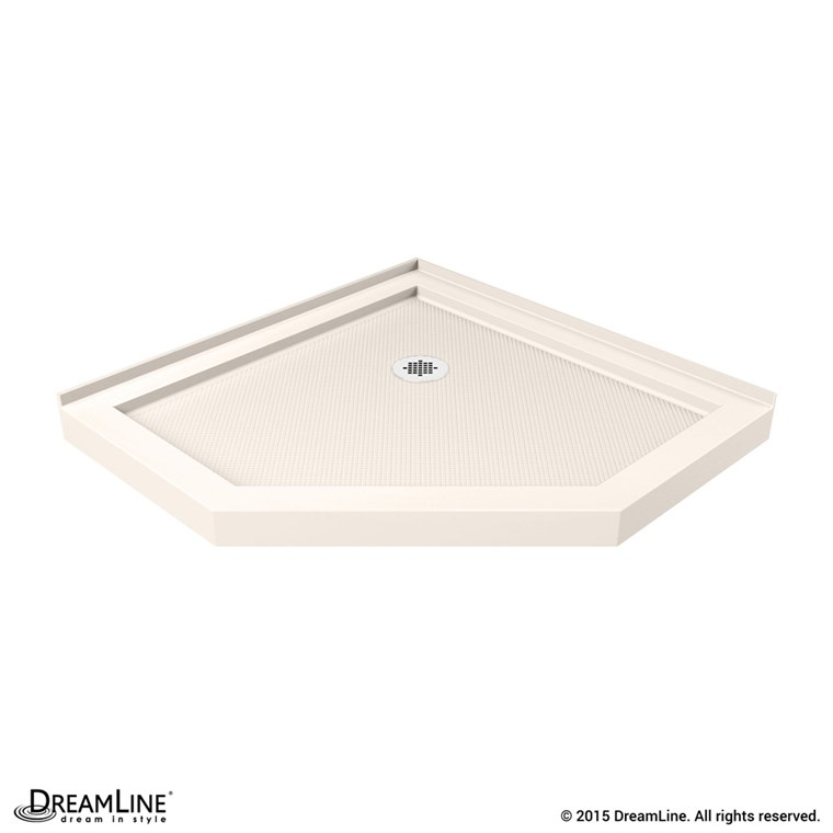 "Bath Authority DreamLine SlimLine Neo Shower Base (36"" by 36"") - Biscuit DLT-2036360-22"
