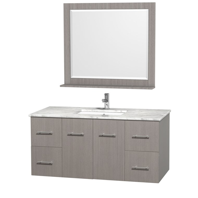 "Centra 48"" Single Bathroom Vanity for Undermount Sinks by Wyndham Collection - Gray Oak WC-WHE009-48-SGL-VAN-GRO-"