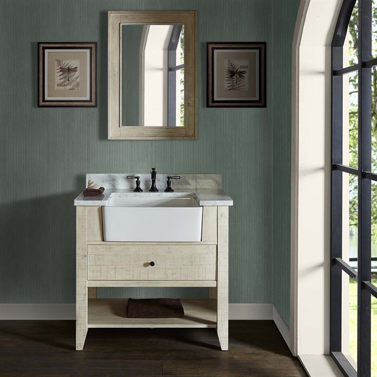 "Fairmont Designs River View 36"" Farmhouse Vanity - Toasted Almond 1515-FV36"