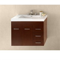 "RONBOW Bella 36"" Vanity Integrated - Dark Cherry RONBOW 011236-H01-INTEGRATED"