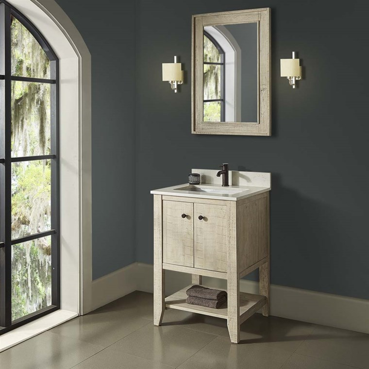 "Fairmont Designs River View 24"" Open Shelf Vanity - Toasted Almond 1515-VH24"