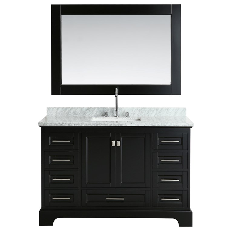 "Design Element Omega 54"" Single Sink Vanity - Espresso DEC068D-E"