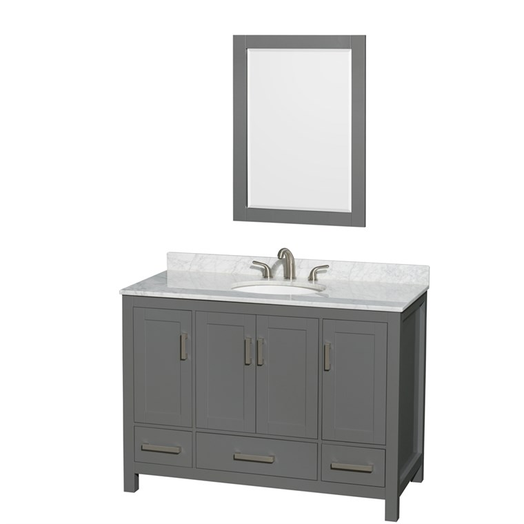 "Sheffield 48"" Single Bathroom Vanity by Wyndham Collection - Dark Gray WC-1414-48-SGL-VAN-DKG"