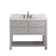 "Avanity Brooks 42"" Single Bathroom Vanity - Chilled Gray  BROOKS-42-CG"