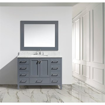 design element london 48 single sink vanity set gray free shipping modern bathroom