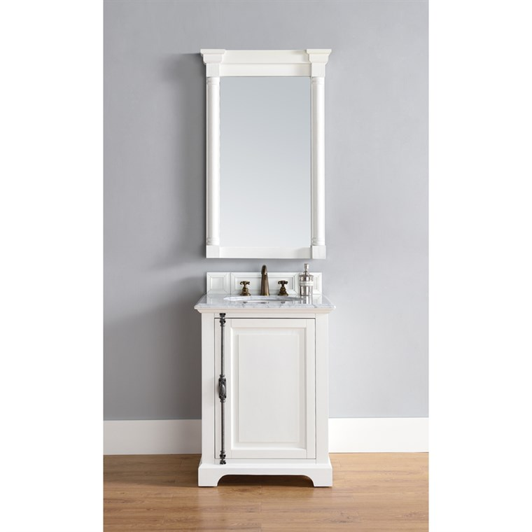 "James Martin 26"" Providence Single Cabinet Vanity - Cottage White 238-105-V26-CWH"