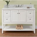 "Fairmont Designs Shaker Americana 48"" Vanity - Open Shelf - Polar White 1512-VH48_"