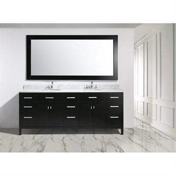 """Design Element London 84"""" Double Sink Vanity Set, Espresso DEC076-84 by Design Element"""