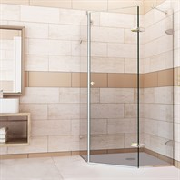 "Vigo Industries Frameless Neo-Angle Shower Enclosure - 36"" x 36"", Clear VG6061CL-36-36"