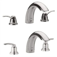 Grohe Talia 3-Hole Roman Tub Filler - Infinity Brushed Nickel