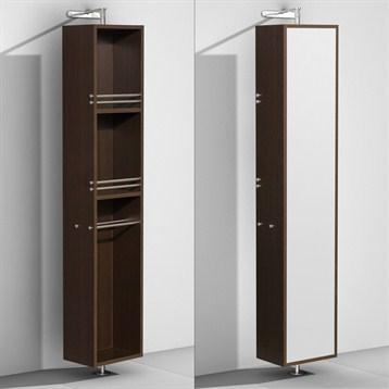Amare Rotating Floor Cabinet with Mirror by Wyndham Collection, Espresso WC-RYV202-ESP by Wyndham Collection®